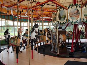 The carousel at John Chavis Memorial Park has recently been renovated, the first step in a long-term plan to revitalize the historic city park. Courtesy, City of Raleigh