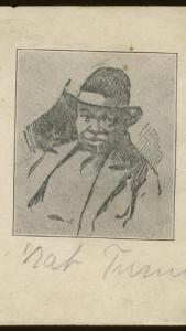 Drawing of Nat Turner believed to have been copied from a sketch made during his lifetime. Courtesy, Southampton County Historical Society