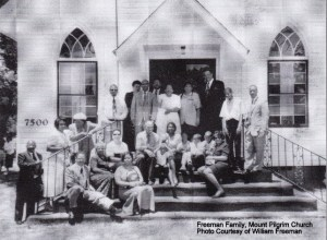 Freeman family at Mount Pilgrim Church. Photo by William Freeman. From the Federal Point Historic Preservation Society