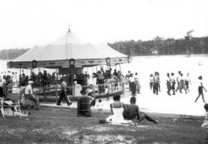 Carousel at Chowan Beach, ca. 1945. From BlackPast.org (original source unknown)