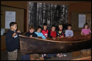 Makah Museum's highest priorities. This is a 1st grade class from the Neah Bay School visiting the museum. Courtesy, Makah Cultural and Research Center