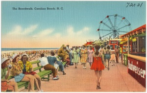 Postcard of the Boardwalk, Carolina Beach, N.C. From the Tichnor Brothers Collection, Boston Public Library