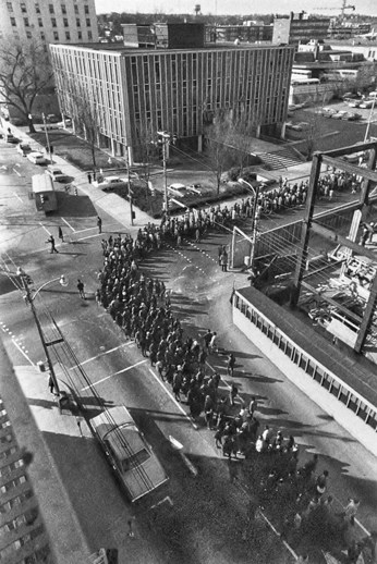 Hyde County's black citizens and supporters marching toward the N.C. General Assembly in Raleigh, N.C. Courtesy, N.C. Museum of History