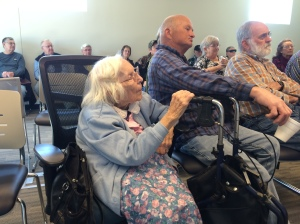 "Virginia ""Ginny"" Midgett Richardson at a lecture that I gave in Sneads Ferry a couple years ago. Photo by David Cecelski"