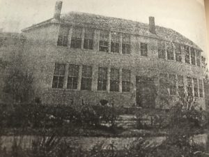 "Administration Building, Hyde County Training School, Sladesville, N.C. From ""Memories of the Hyde County Training School Banner, 1940"""