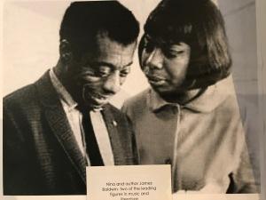 Nina Simone and James Baldwin, a photograph in the Nina Simone exhibit at the Tryon Historical Museum, Tryon, N.C.