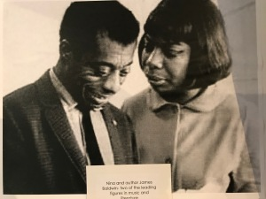 Nina Simone and James Baldwin, a photograph in the Nina Simone exhibit at the Tryon Historical Museum, Tryon, N.C.