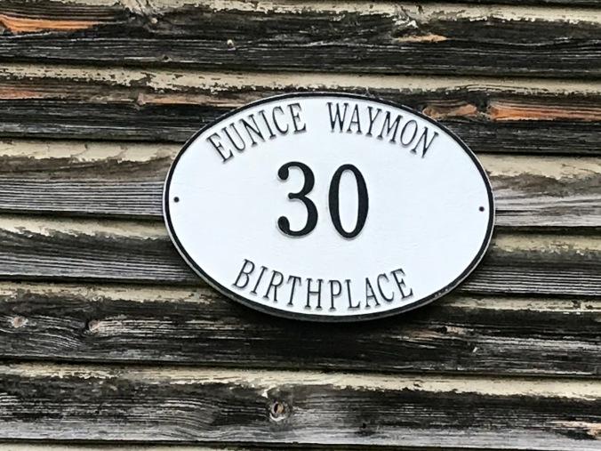 Marker at the birthplace of Eunice Waymon (Nina Simone), Tryon, N.C.