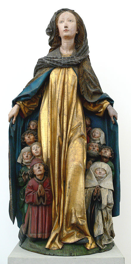 Michel Erhart, Virgin of Mercy (ca. 1480-90), Bode-Museum, Berlin