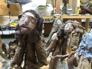 Unidentified figures at the conservation lab in Wilson, N.C. Photo by David Cecelski