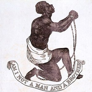 """Am I not a Man and a Brother?"" 1787 official medallion for the British Anti-Slavery Society, designed by Josiah Wedgwood and one of the other model designers at the Wedgwood pottery factory, presumably either William Hackwood or Henry Webber."