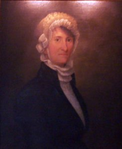 Sarah Mumford Mallett (1765-1836) was one of the women with whom Susan Johnson read The Old Manor House. Oil painting, unattributed, contributed to the web site findagrave.com by Mike Mallett