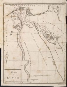 A map of Egypt from Volney's Travels through Syria and Egypt in the Years 1783, 1784, and 1785