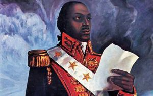 General Toussant Louverture (1743-1803), detail from a painting made after this death, artist unknown. Courtesy, New York Public Library
