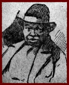 Drawing of Nat Turner, 1831, by John Crawley