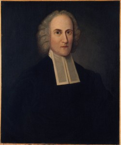 The great Puritan preacher, theologian and philosopher Jonathan Edwards was Susan Johnson's grandfather. Portrait by Henry August Loop (after Henry Badger), Princeton University Art Museum