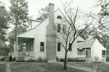 The house where Susan Johnson stayed during the Christmas holidays in 1800-1801. The house was originally built ca. 1735 in Campbelltown (later Fayetteville), N.C. Peter Mallett moved into the house, which came to be called Council Hall, in 1780. Now called the Mallett-Rogers House, it was moved and now sits on the grounds at Methodist College, Fayetteville. Courtesy, Council of Independent Colleges, Historic Campus Architecture Project