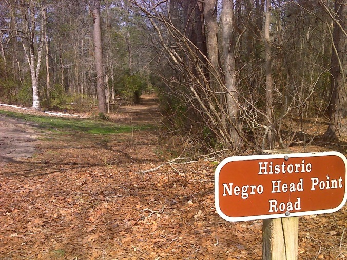 "A portion of ""Negro Head Road"" (or ""Negro Head Point Road"") can still be seen at the Moores Creek National Battlefield, administered by the National Park Service in Currie, N.C."