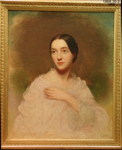 Susan Edwards Johnson, by Charles Wesley Jarvis, ca. 1840. Oil on canvas, Yale University Art Gallery. Susan Edwards Johnson (the elder) lived in Stratford, Conn., until her death in 1856, at the age of 85. She and Samuel-- who became a judge-- had 5 children. This is one of their granddaughters, a child of their son William Samuel Johnson and his wife Laura Woolsey Johnson.