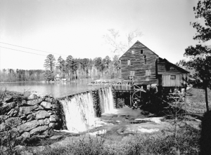 Yates Mill, built ca. 1756, Wake County, N.C. Courtesy, State Archives of North Carolina