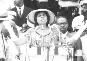 "Marian Anderson sang ""He's Got the Whole World in his Hands"" at the March on Washington in 1963. You can find a 1953 YouTube video of her singing the song on TV here."