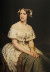 Portrait of Jenny Lind by Eduard Magnus, 1862. From the National Portrait Gallery, London.