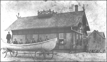 The Little Kinnakeet Life Saving Station, 1871-1915. Courtesy, National Park Service