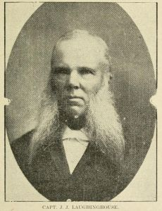 """A former Confederate officer named J. J. Laughinghouse was one of the founders of Pitt County's Ku Klux Klan in 1869. He wrote that the Klan's goal was """"the preservation of the Anglo-Saxon race."""" From Henry T. King, Sketches of Pitt County (Raleigh, 1911)."""