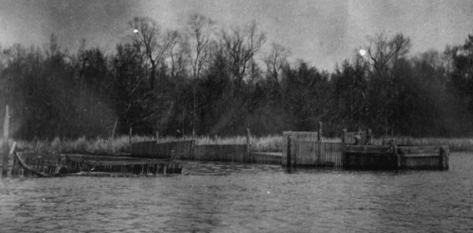 Slat mud-weir, Plymouth, N.C. From the NOAA Historic Photograph Collection. Courtesy, National Archives
