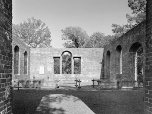 The ruins of St. Philip's Episcopal Church at the Brunswick Town State Historic Site, Brunswick County, N.C. Photo by Tim Buchanan. Courtesy, Preservation North Carolina