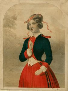 Drawing of Jenny Lind from her U.S. tour. Courtesy, New York Public Library