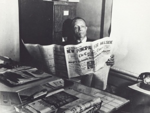 Louis Austin was editor and publisher of Durham's historically black newspaper, The Carolina Times, from 1927 until his death in 1971. Photo courtesy, Durham County Public Library