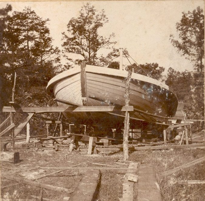 The steamer Tarboro under construction, 1898. Courtesy, Edgecombe County Memorial Library