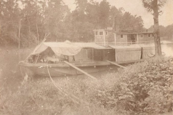 The Shiloh at rest on the banks of the Tar River. Courtesy, Edgecombe County Memorial Library