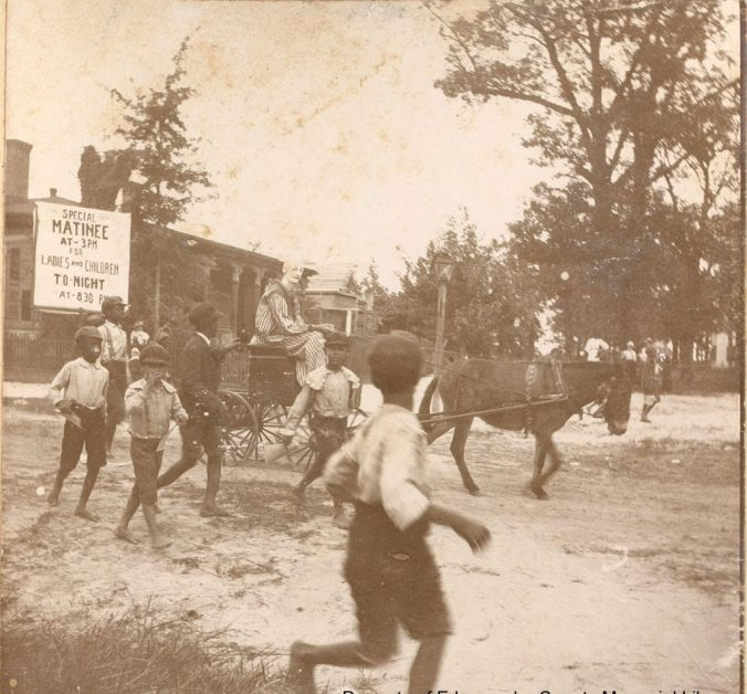 A circus coming into Tarboro, ca. 1900. Courtesy, Edgecombe County Memorial Library