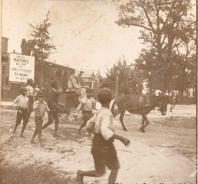 A circus coming into Tarboro, ca. 1900. Courtesy, Edgecombe County Memorial Library