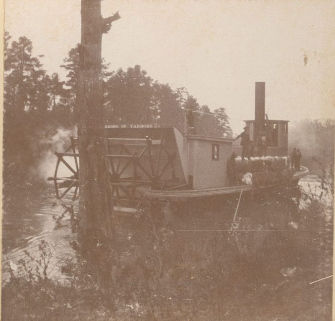 Stern view of the steamer Tarboro, ca. 1900. Courtesy, Edgecombe County Memorial Library
