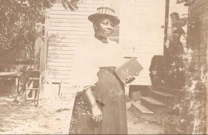 "Woman identified as ""Lida"" in one of Lena Martin's albums. Courtesy, Edgecombe County Memorial Library"