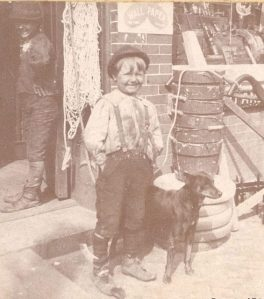 A happy young man in front of a drugstore, Tarboro, ca. 1890-1900. Courtesy, Edgecombe County Memorial Library