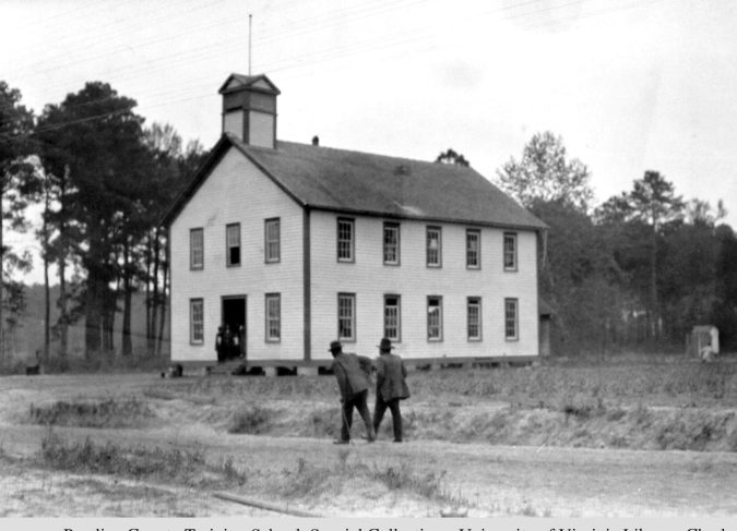 Pamlico County Training School, ca. 1918. Courtesy, Special Collections, University of Virginia Library, Charlottesville, Va.