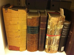 A collection of Horton Howard's rare medical books that archivist and blogger Lisa P. Rickey found at the Wright State University Archives & Special Collections. Photo by Lisa P. Rickey
