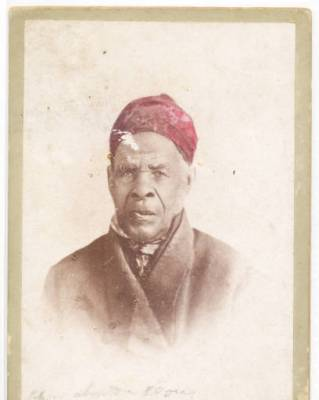 Photograph of Omar ibn Said, ca. 1850. From the Owen and Barry Family Collection, New Hanover County Public Library, Wilmington, N.C.