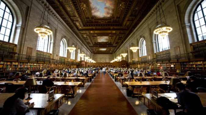 Rose Main Reading Room, Schwarzman Building, New York Public Library. Photo by Kevin O'Mara via Flickr