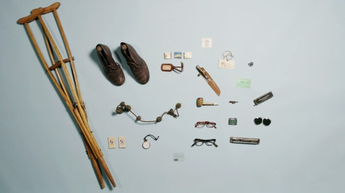 In addition to literary manuscripts and letters, the Berg Collection also includes quite a number of rather eclectic items that once belong to famous writers, including a lock of Walt Whiteman's hair, Virginia Woolf's cane and Jack Kerouac's boots. This photograph originally appeared in a rNew Yorker article by Gareth Smit.