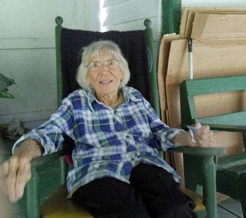 Blanche Howard Jolliff, Ocracoke, N.C., 2015. Photo by Peter Vankevich. From Philip Howard's Ocracoke Island Journal