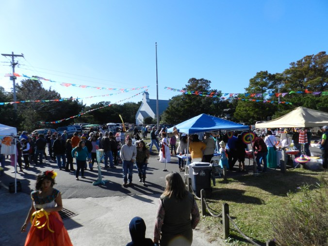 The Festival Latino de Ocracoke on the Ocracoke school grounds in the fall of 2016, now an annual event. Photo courtesy, Ocracoke Observer