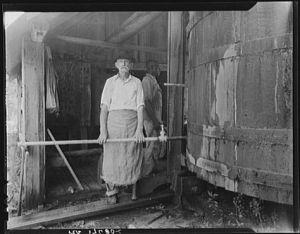"A turpentine ""stiller"" near Valdosta, Georgia. Courtesy, Library of Congress"