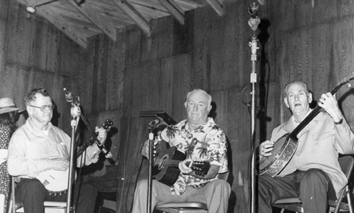 Philip's dad Lawton Howard (left), playing banjo at an Ocracoke variety show with Jule Garrish (guitar) and Edgar Howard (banjo). In 1977, their music was part of a Smithsonian Folkways album called Between the Sound and the Sea: Music of the North Carolina Outer Banks.