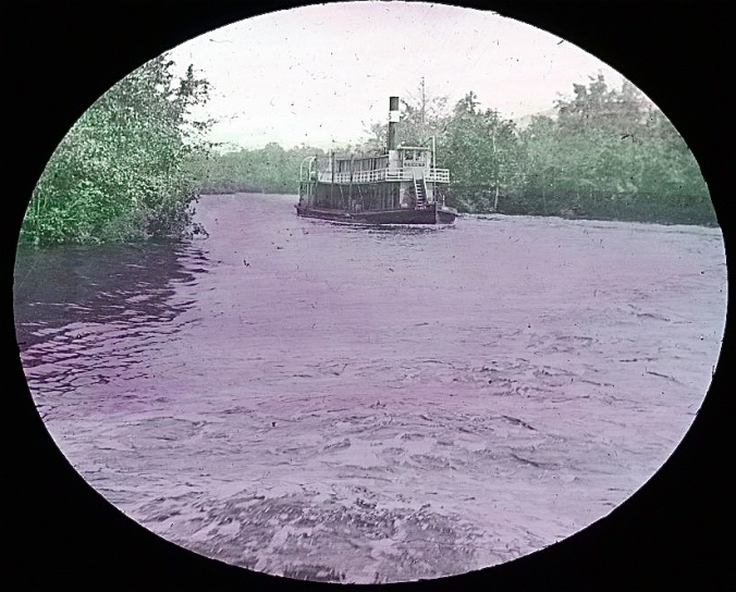 A steamer on the Albemarle & Chesapeake Canal, 1901. Image by Albert Ross, USN. Courtesy, Linda Garey