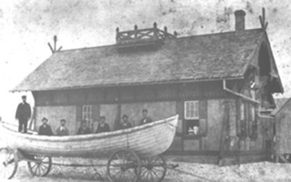 Little Kinnakeet Life-Saving Station, Hatteras Island, N.C., ca. 1880-1900. Courtesy, Cape Hatteras National Seashore